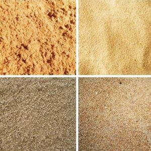 Песок для бетона. Отличия.